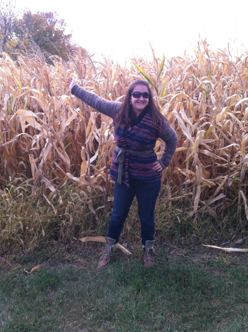 Rough -- except for this picture. I was definitely happy in the corn here.